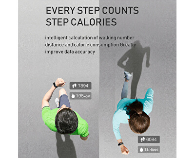 Fitness náramek s teploměrem WT11W - White - SLEVA