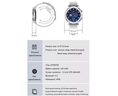 Smartwatch W89R - Rose Gold