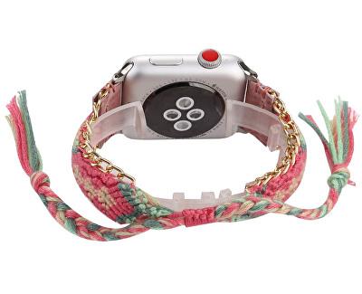Textilní řemínek pro Apple Watch - Růžový 38/40 mm