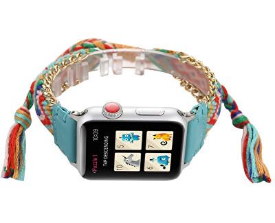 Textilní řemínek pro Apple Watch - Vícebarevný 42/44 mm