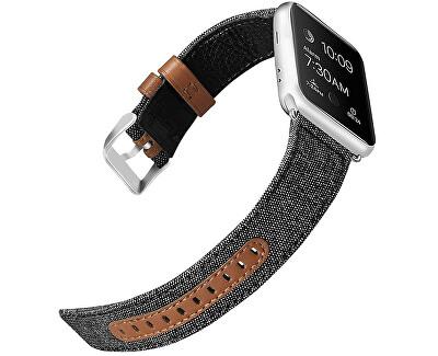 Kůže + textil řemínek pro Apple Watch - 42/44 mm