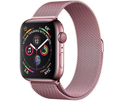 Ocelový milánský tah pro Apple Watch - Růžový 38/40 mm