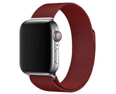 Ocelový milánský tah pro Apple Watch - Vínový 42/44 mm