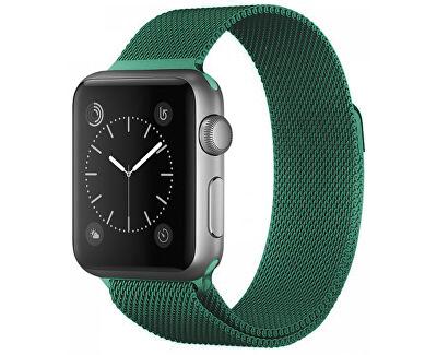 Ocelový milánský tah pro Apple Watch - Zelený 38/40 mm