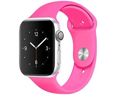 Silikonový řemínek pro Apple Watch - Barbie růžová 38/40 mm - S/M