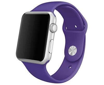 Silikonový řemínek pro Apple Watch - Fialová 38/40 mm - S/M