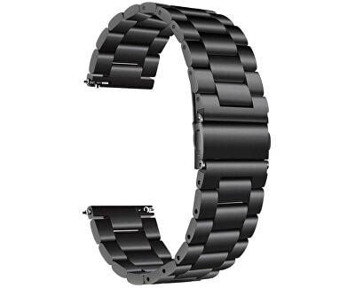 Ocelový tah pro Samsung Galaxy Watch - Black 22 mm