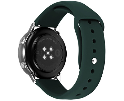 Silikonový řemínek pro Samsung Galaxy Watch - Dark Green 20 mm