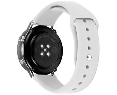 Silikonový řemínek pro Samsung Galaxy Watch - White 20 mm