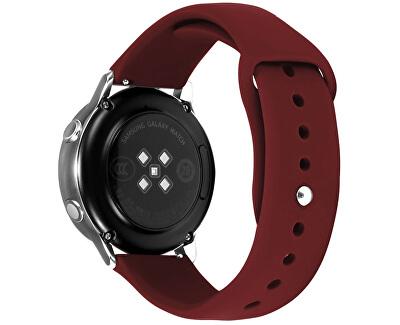 Silikonový řemínek pro Samsung Galaxy Watch - Wine Red 20 mm