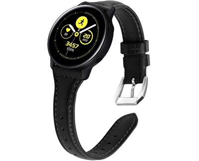 Slim kožený řemínek pro Samsung Galaxy Watch - Black 20 mm