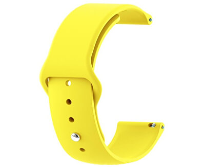 Silikonový řemínek pro Samsung Galaxy Watch - Yellow 20 mm