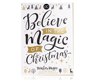 Adventní kalendář Winter Magic bílý-zlatý