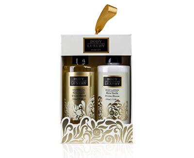 Set cadou pentru baie Body Luxury Warm Vanilla & Lime Blossom (Bath Set)