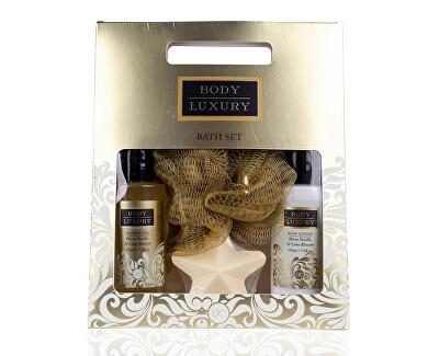Set cadou pentru baie cu burete  Body Luxury Warm Vanilla & Lime Blossom (Bath Set)