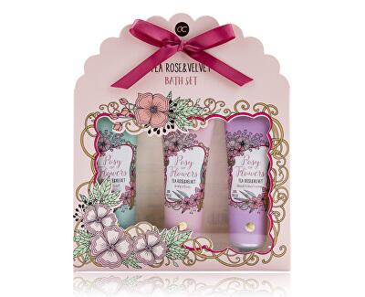 Kosmetická sada s vůní čajové růže a velvetu Posy of Flowers