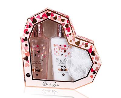 Set cosmetice într-o inimă de hârtie cu parfum de magnolie Heart Cascade