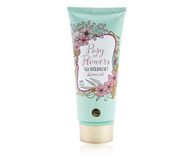 Gel de dus și catifea ceai trandafir Posy de flori (Shower Gel) 200 ml