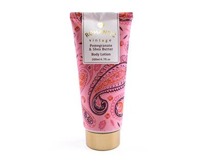 Lotiune de corp cu parfum de rodie și unt de shea Vintage Romantic (Lotiune de corp) 200 ml
