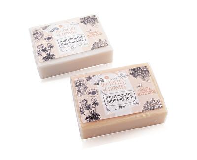 Săpun solid cu lapte de oaie și unt de shea Poezie de flori (Sheep Milk Soap) 100 g