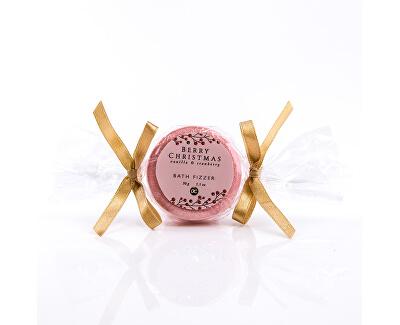 Šumivá bomba do koupele s vůní vanilky a brusinky v dárkovém balení Berry Christmas (Bath Fizzer) 30 g