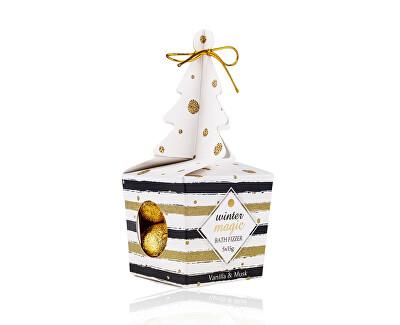 Set cadou de bombe efervescente de baie într-o cutie cadou Vanilla & Musk Winter magic (Bath Fizzer)