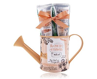 Set cosmetic într-un ceainic cu parfum de trandafiri și caprifoi Poetry of Flowers