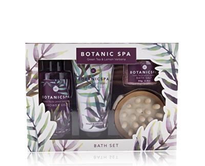 Set cosmetic cu miros de ceai verde si lămâie  Botanic Spa(Bath Set)