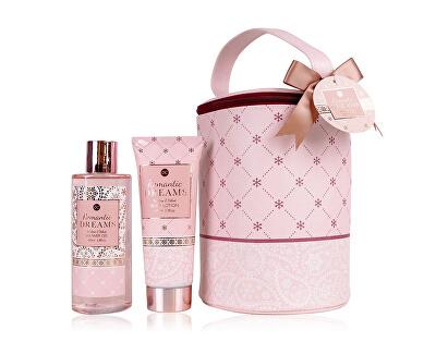 Set cadou pentru îngrijirea corpului într-o gentuță cosmetică Romantic Dreams
