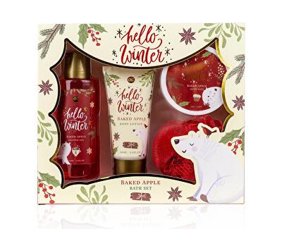 Set cadou pentru îngrijirea corpului cu miros de mere coapte Hello Winter