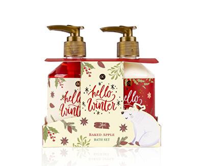Set cadou pentru îngrijirea corpului mere coapte Hello Winter