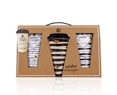 Set cadou pentru îngrijirea corpului Vanilla & Musk Winter magiccu cană termică