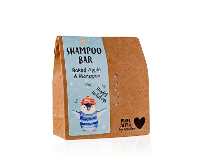 Tuhý šampon na vlasy s vůní pečeného jablka a marcipánu Tučňák Happy Holidays (Shampoo Bar) 60 g
