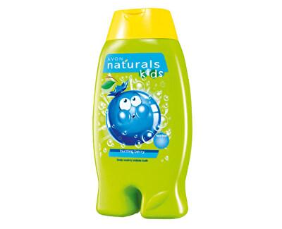 Jemný sprchový gel a pěna do koupele 2 v 1 s borůvkou (Body Wash & Bubble Bath) 250 ml