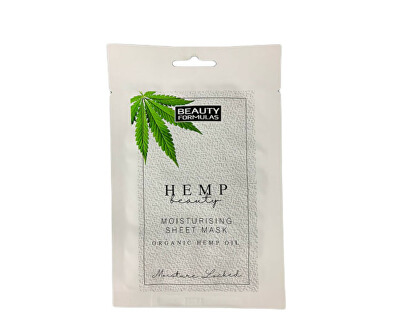 Mască hidratantă cu cânepă Hemp Beauty (Moisture Sheet Mask Organic Hemp Oil) 1 p
