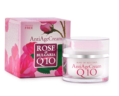 Anti-age krém s koenzymem Q10 a růžovou vodou Rose Of Bulgaria (Anti Age Cream) 50 ml