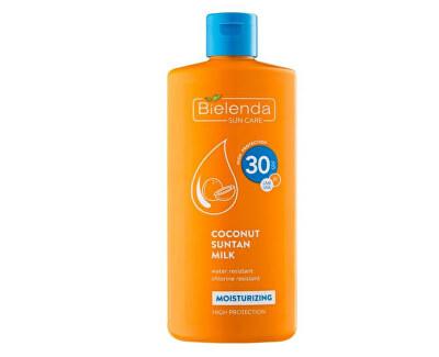 Feuchtigkeitsspendende Kokosmilch zum Sonnenbaden SPF 30 Bielenda Sun Care (Coconut Suntan Milk) 200 ml