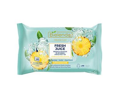 Șervețele micelare pentru demachiere Ananas Fresh Juice(Micellar Wipes) 20 buc