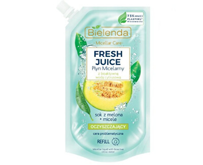Micelárna voda citrón a melón Fresh Juice - náhradná náplň (Liquid Micellar) 500 ml