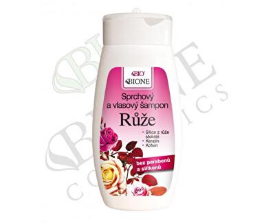 Sprchový a vlasový šampón Růže 260 ml