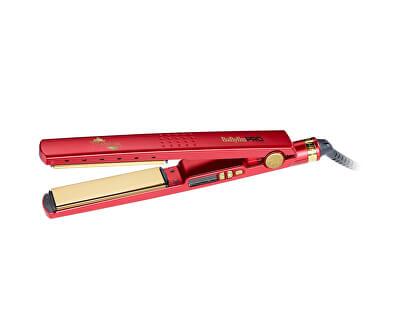Placă de păr BaByliss Pro Titanium-Ionic roșie