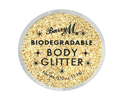 Sclipici de corp Biodegradable Body Glitter nuanța Gold Mine 3,5 ml