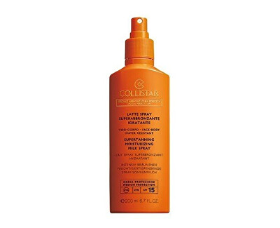 Mléko na opalování ve spreji SPF 15 (Supertanning Moisturizing Milk Spray 200 ml