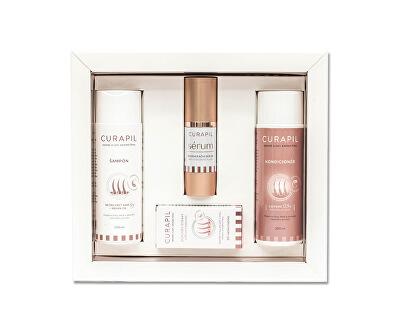 Dárková sada pro podporu růstu vlasů (šampon + kondicionér + regenerační sérum + tablety 60 ks) - SLEVA - poškozená krabička