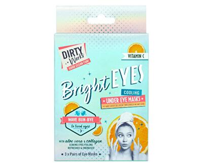 Rozjasňující maska pod oči Bright Eyes (Cooling Under Eye Mask) 3 x 4 ml