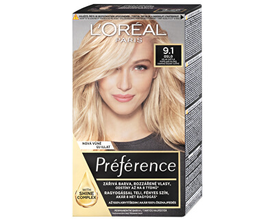 Permanentní barva na vlasy Préférence - SLEVA - pomačkaná krabička