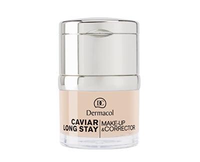 Dlouhotrvající make-up s výtažky z kaviáru a zdokonalovací korektor (Caviar Long Stay Make-Up & Corrector) 30 ml