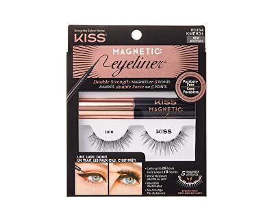 Gene magnetice artificiale cu linii de ochi (Magnetic Eyeliner & Lash Kit)