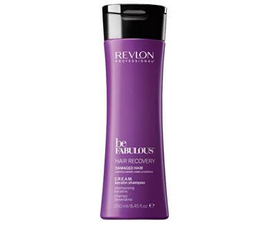 Krémový šampón s keratínom pre poškodené vlasy Be Fabulous Hair Recovery (Cream Keratin Shampoo)