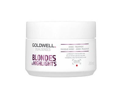 Regeneračná maska neutralizujúce žlté tóny vlasov Dualsenses Blonde s & Highlights (60 Sec Treatment)